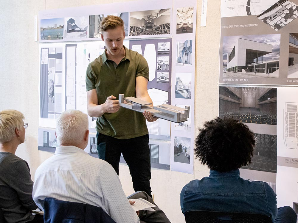 Aaron Kent presents his work at architecture review