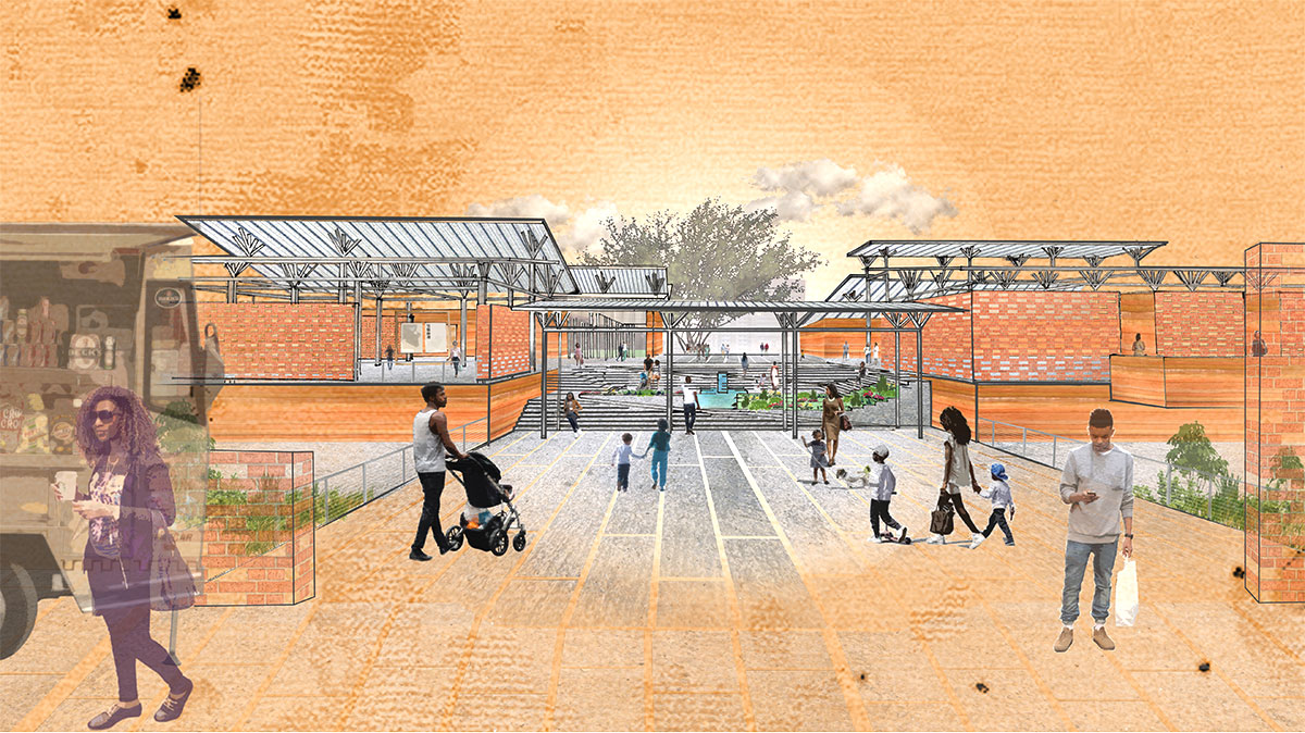architectural rendering for mosquito research center