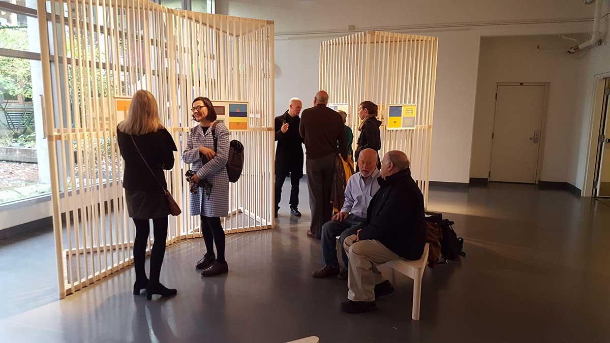Josef Albers exhibit in the Wallace and Grace Hayden Gallery