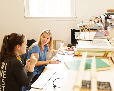 students present work