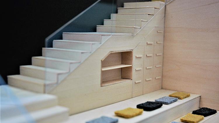under-stair built-in storage model