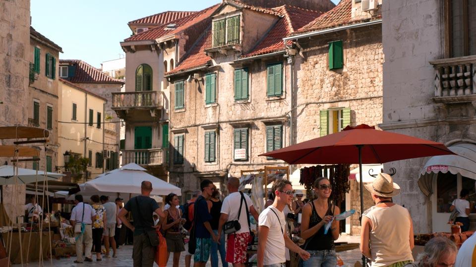 Croatia Field School courtyard with stone buildings