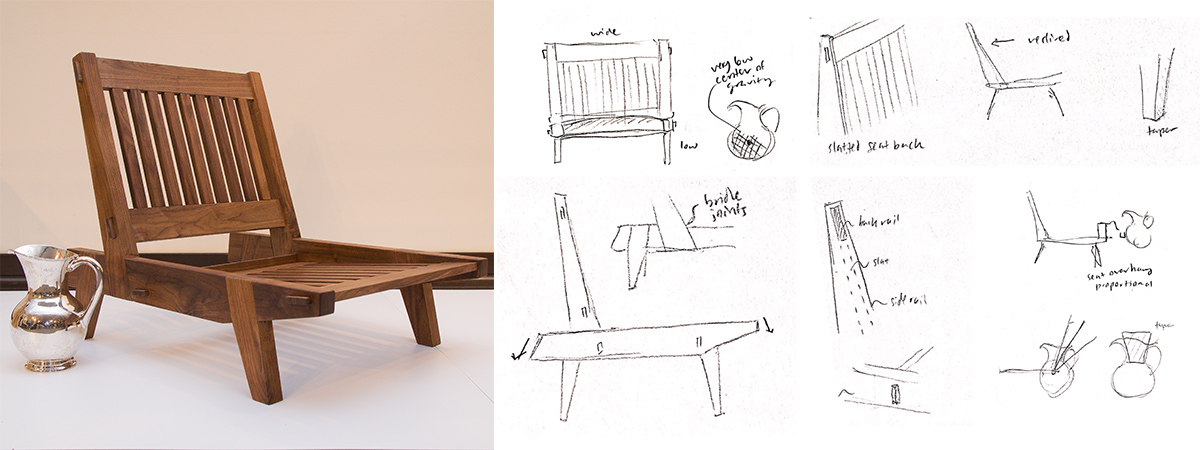 hoek chair with sketches