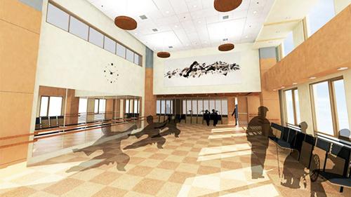 rendering of building interior