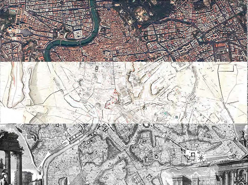 Collage Map of Rome