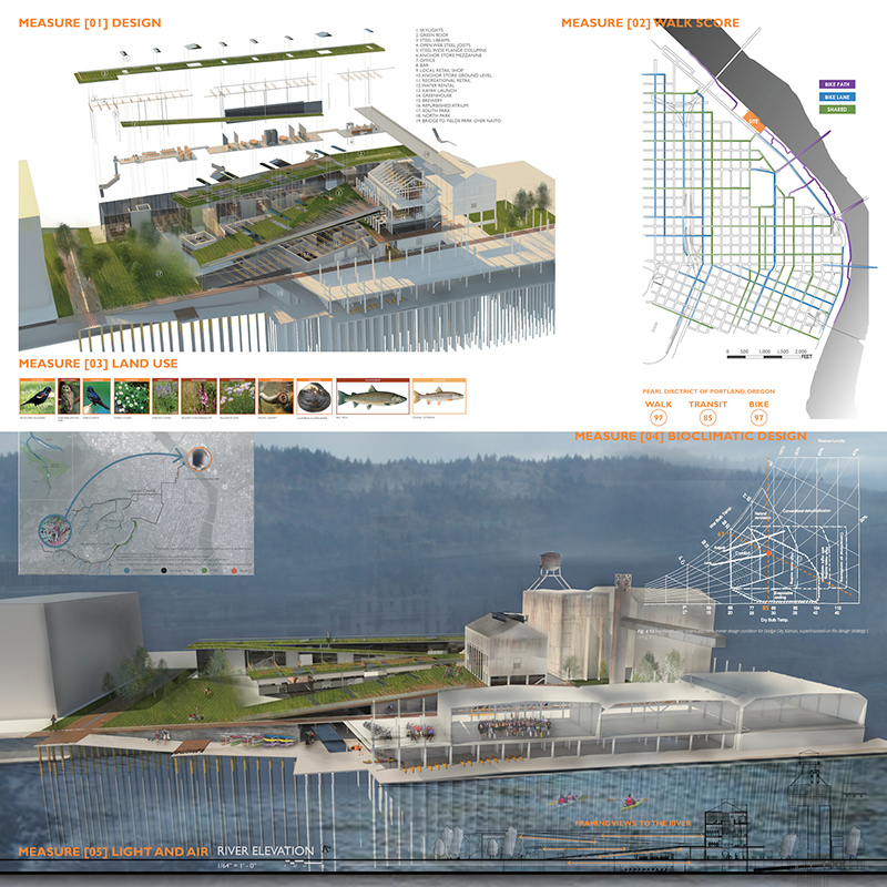 "Gabrielle Steffel's design, ""Centennial Mills re[CYCLE]d."""