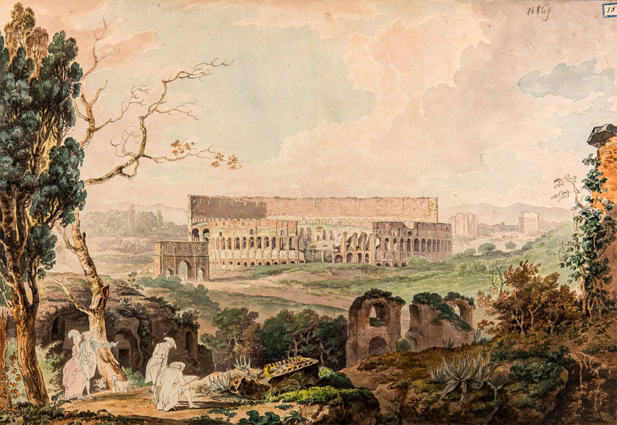 The Coliseum, Watercolor, 18th century. Images courtesy James Tice.