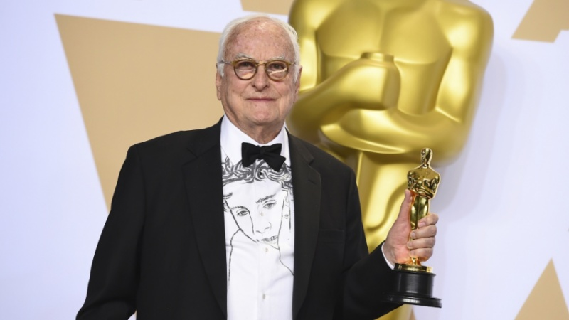James Ivory with Academy Award