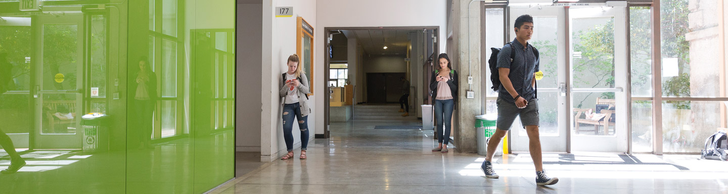 students outside Lawrence Hall room 177