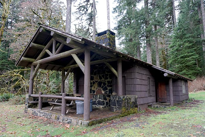 cabin at Silver Falls State Park