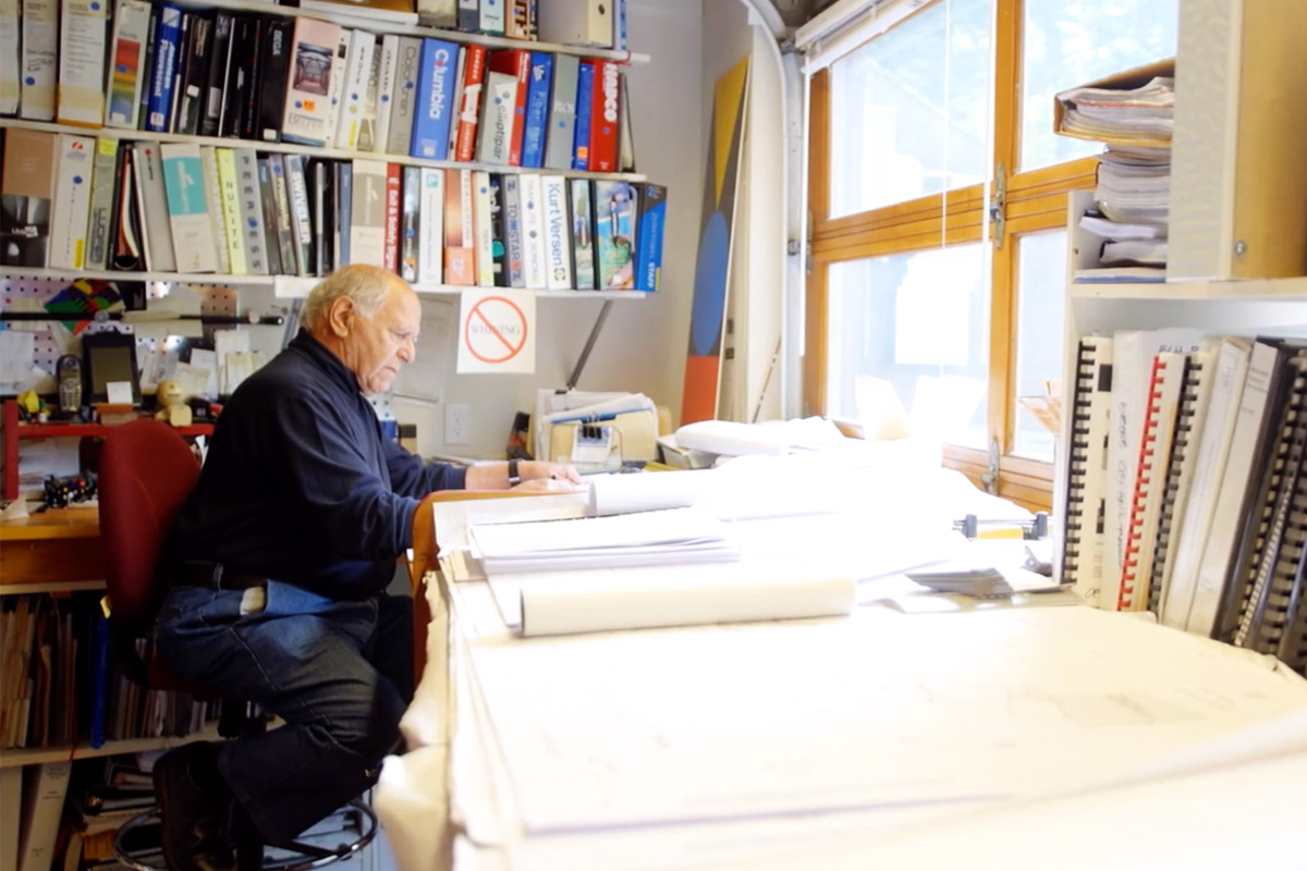 Photo of Otto Poticha in his office