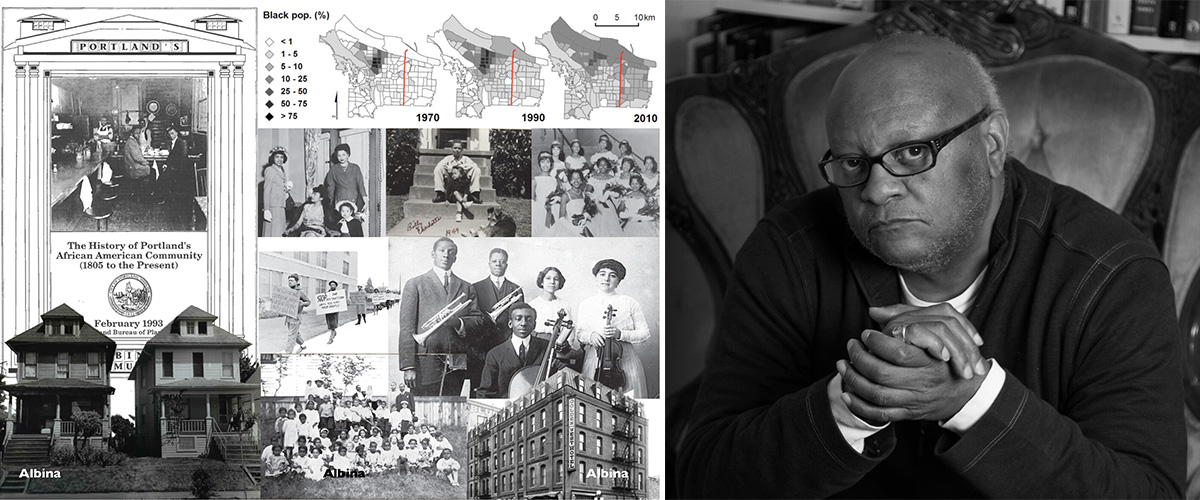 Historic photos of Portland and a photo of Craig Wilkins
