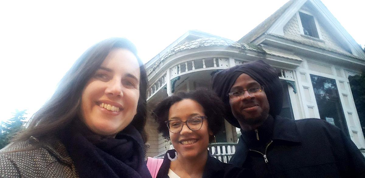 Photo of Karen Kubey, Kayin Talton Davis, and Cleo Davis