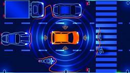 illustration showing car sensors
