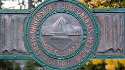 University of Oregon gate detail