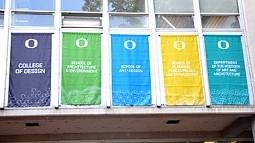 flags at the College of Design