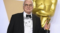James Ivory with Oscar