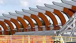 construction at Hayward Field