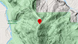 Topographical map of Mount Pisgah