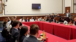 Nico Larco in Washington at Capitol Hill briefing