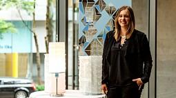 Nicole Epple with lamps