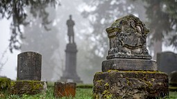 cemetery on university of Oregon campus