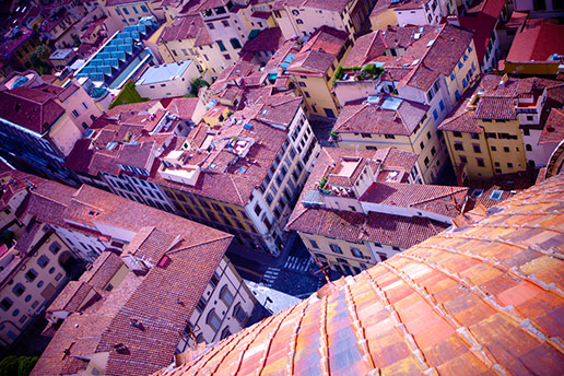 rooftops in Vicenza, Italy